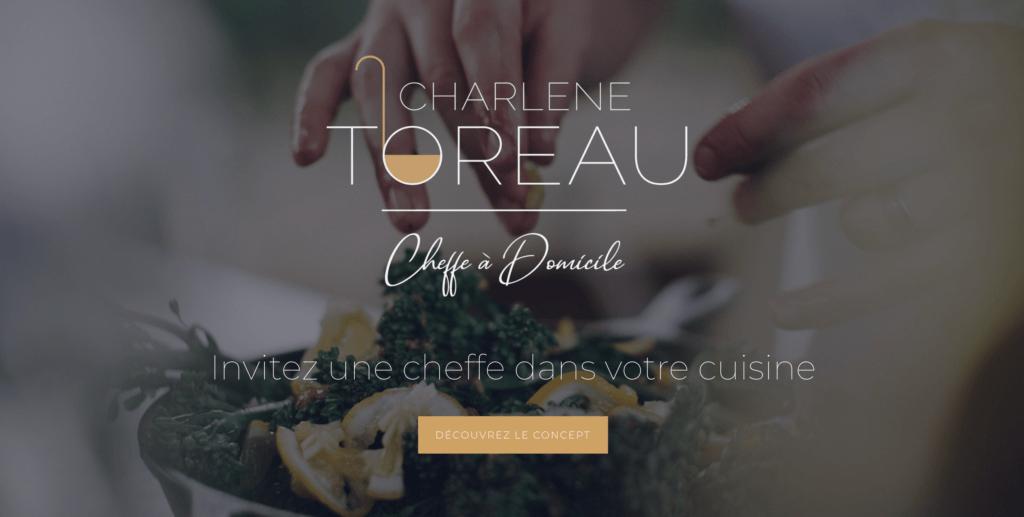 Site Charlène Cheffe à Domicile